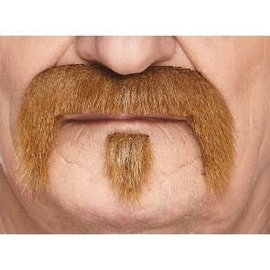 The Zappa Mustache with Beard- Light Brown