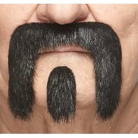 The Winnfield Mustache with Goatee- Black