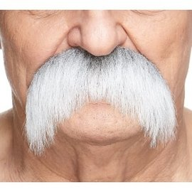 The Walrus Mustache- White/Grey