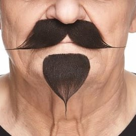 The Handlebar with Goatee- Dark Brown