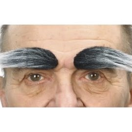 Bushy Eyebrows- Grey/White