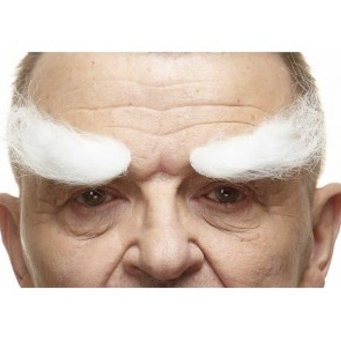 Villain Eyebrows- White