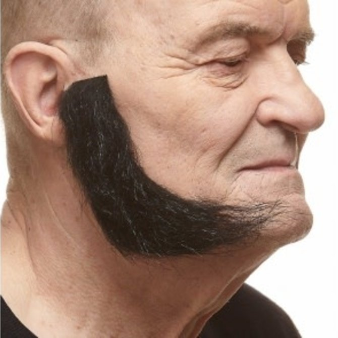 L-Shaped Mutton Chops- Black