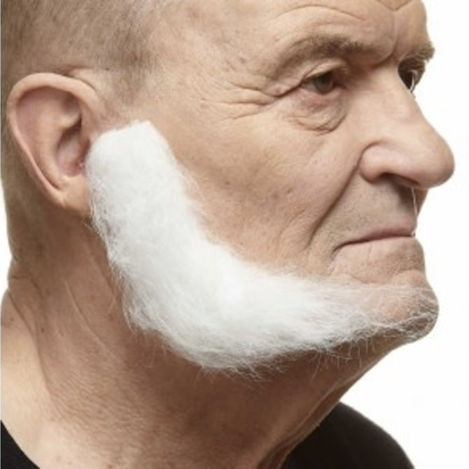 L-Shaped Mutton Chops- White