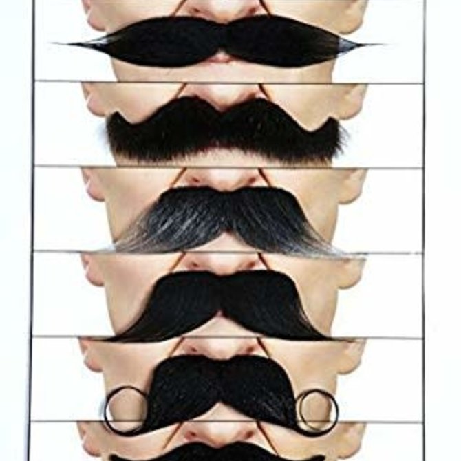 Mustache Mix Value Pack- 6 Pieces