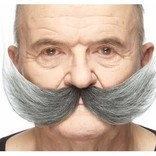 Fisherman Mustache- Grey