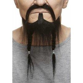 Braided Pirate Mustache with Beard- Black