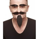 Russian Mustache with Beard and Eyebrows- Black