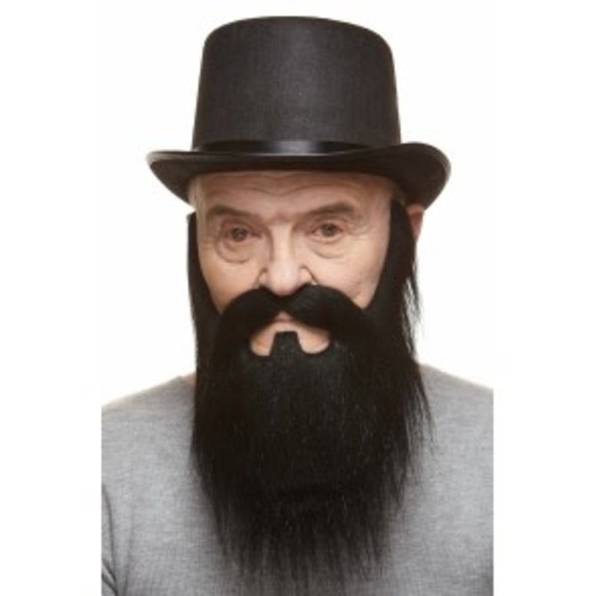Lord Mustache with Beard- Black