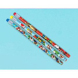 Super Mario Brothers™ Pencil Favors, 12ct