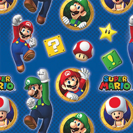 Super Mario Brothers Printed Gift Wrap, 8'
