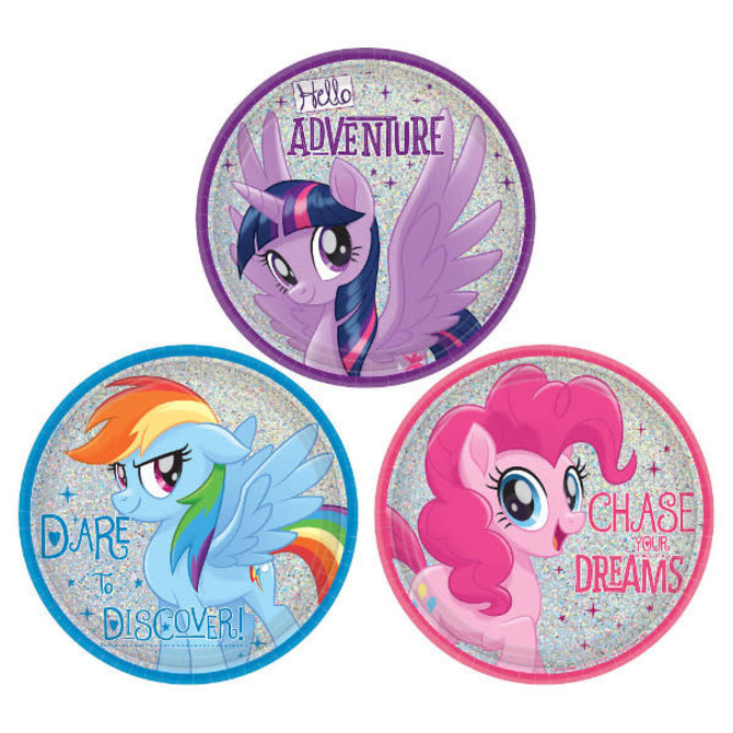 "My Little Pony Friendship Adventures™ Assorted Prismatic Round Plates, 7""- 8ct"
