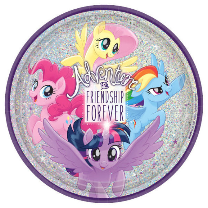"My Little Pony Friendship Adventures™ Prismatic Round Plates, 9""- 8ct"