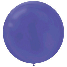 "24"" Round Latex Balloons - New Purple, 4ct"