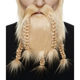 Viking Mustache with Beard- Blonde