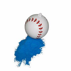 "Gender Reveal 4"" Baseballs 2pk- Blue"