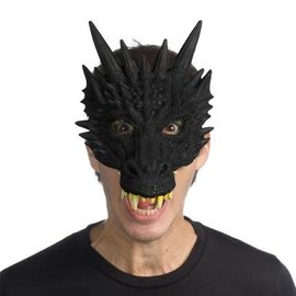 SuperSoft Fantasy Dragon Mask- Black