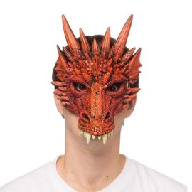 Supersoft Fantasy Dragon Mask-  Ferocious Red