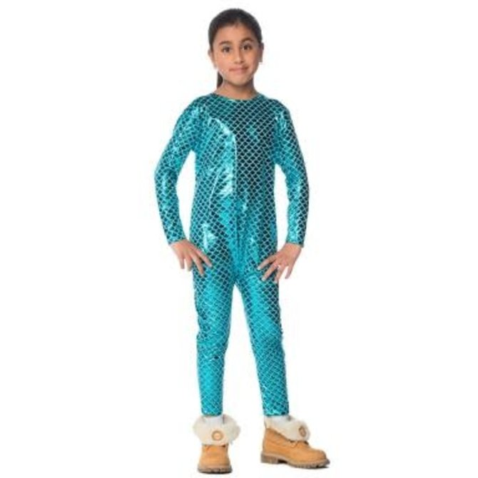 Stretchy Mermaid Bodysuit Juniors- Medium