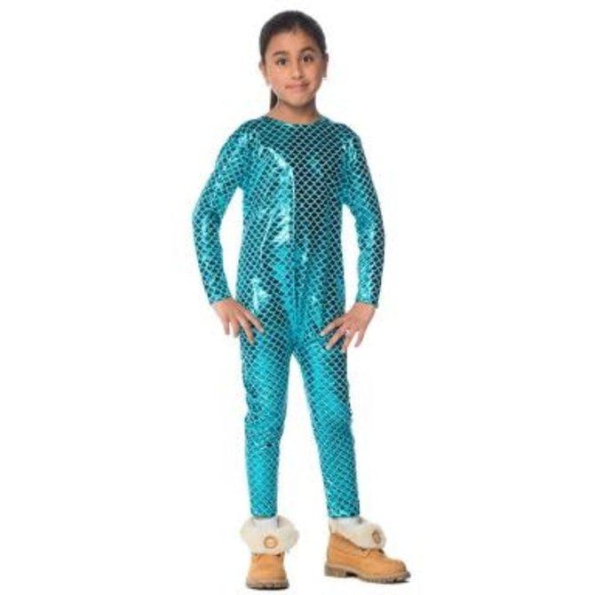 Stretchy Mermaid Bodysuit Junior- XL