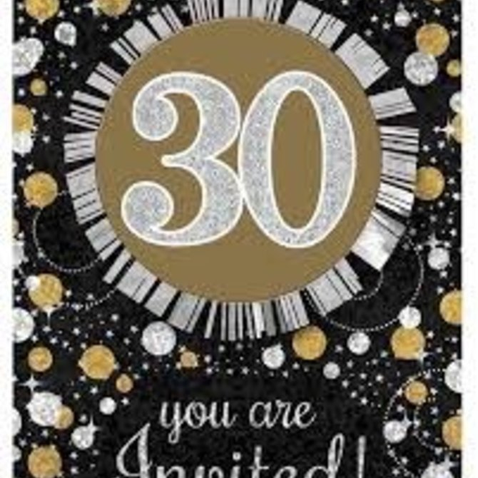 Sparkling Celebration 30 Invitations, 8ct