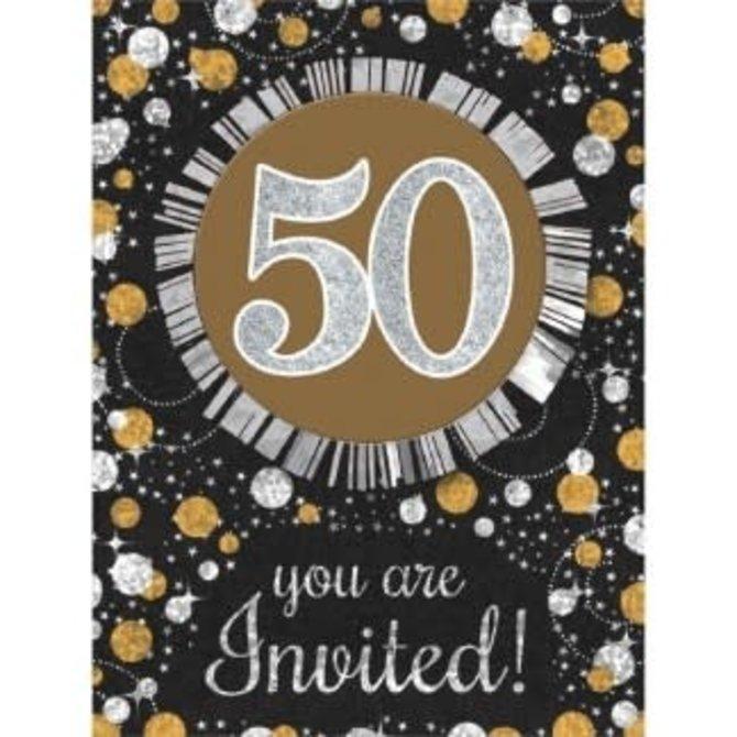 Sparkling Celebration 50 Invitations, 8ct