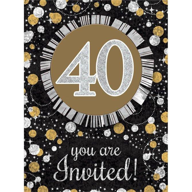 Sparkling Celebration 40 Invitations, 8ct