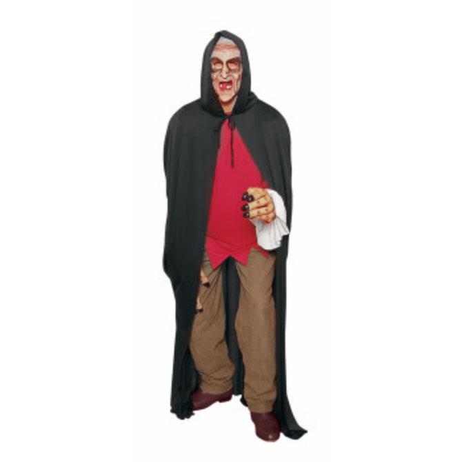Long Hooded Black Cape