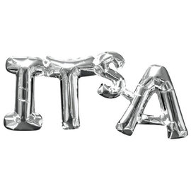 "Balloon Air-Filled Phrase ""It's A "" - Silver"