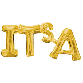 "Balloon Air-Filled Phrase ""It's A "" - Gold"