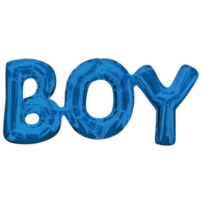 "Balloon Air-Filled Phrase ""Boy"" Blue"