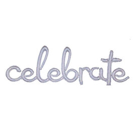 "Balloon Script Phrase ""Celebrate"" - Holographic"