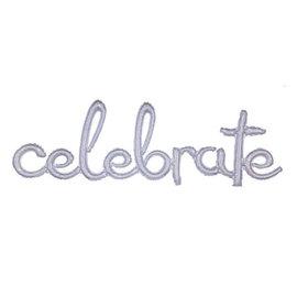 "Balloon Script Phrase ""Celebrate"" - Holographic"