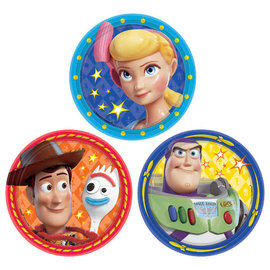 "©Disney/Pixar Toy Story 4 Assorted Round Plates, 7"" -8ct"