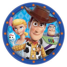 "©Disney/Pixar Toy Story 4 Round Plates, 9"" -8ct"