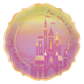 "©Disney Princess Shaped Metallic Plates, 10 1/2"" -8ct"