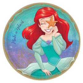 "©Disney Princess Round Plates, 9"" - Ariel -8ct"