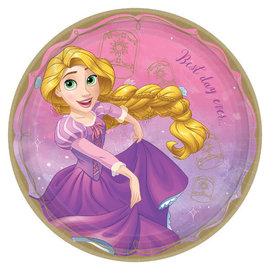 "©Disney Princess Round Plates, 9"" - Rapunzel -8ct"