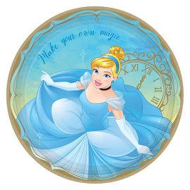 "©Disney Princess Round Plates, 9"" - Cinderella -8ct"