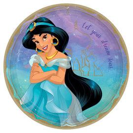 """©Disney Princess Round Plates, 9"""" - Jasmine -8ct"""
