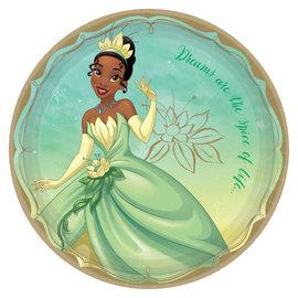 """©Disney Princess Round Plates, 9"""" - Tiana -8ct"""