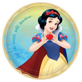 "©Disney Princess Round Plates, 9"" - Snow White -8ct"
