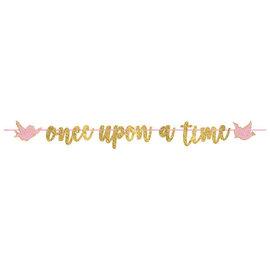 "©Disney Princess Glitter Ribbon Letter Banner -12' x 8"""