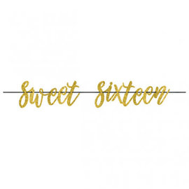 Blush Sixteen Letter Banner
