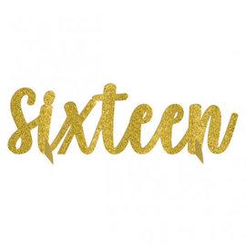 Blush Sixteen Glitter Table Centerpiece