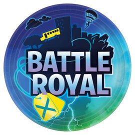 "Battle Royal Round Plates, 9"" -8ct"