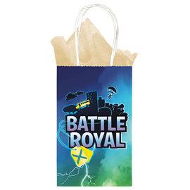 Battle Royal Printed Paper Kraft Bag -8ct