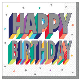 Here's To Your Birthday Luncheon Napkins -16ct