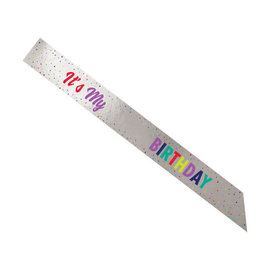 Here's To Your Birthday Add-Any-Age Foil Sash