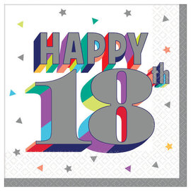 Here's To 18 Beverage Napkins -16ct